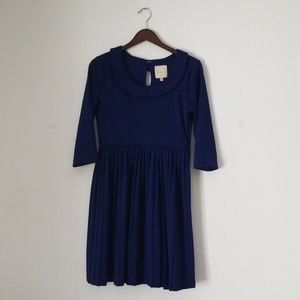 Modcloth boat neck blue dress size large